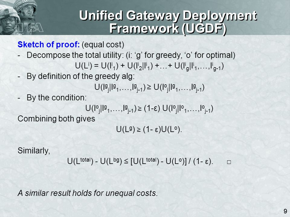 10 Outline Unified Gateway Deployment Framework (UGDF) Context-aware utility computation –Results & sketch of analysis Performance evaluation