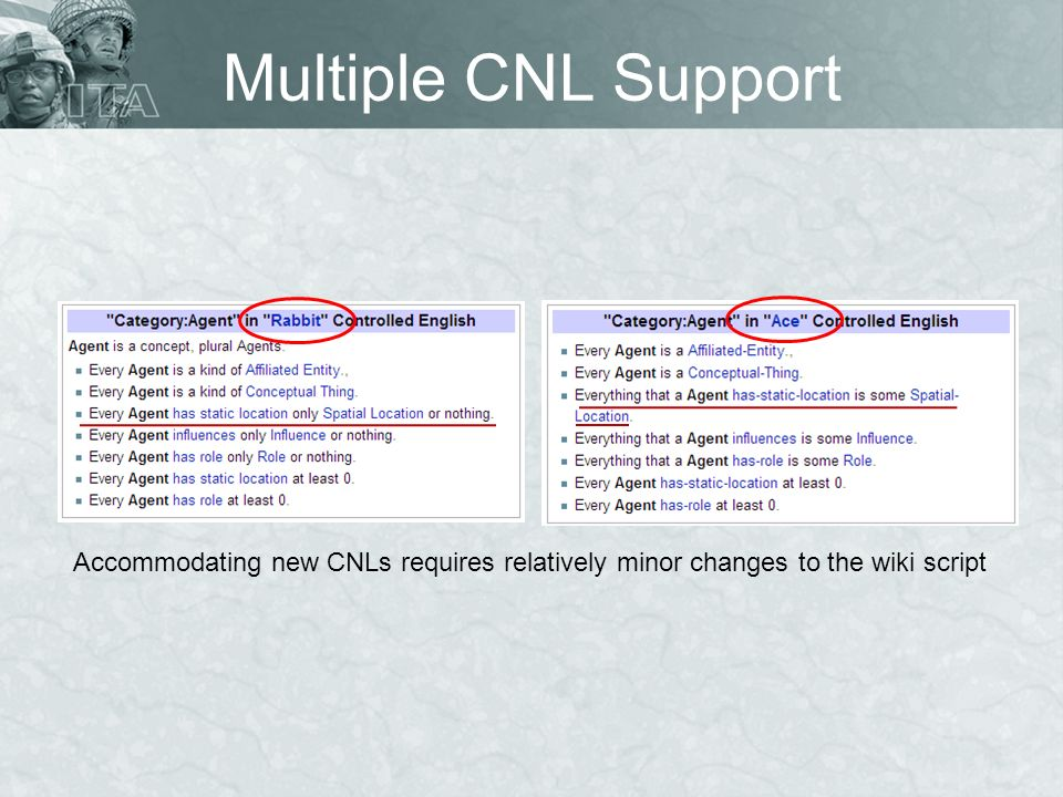 Multiple CNL Support Accommodating new CNLs requires relatively minor changes to the wiki script