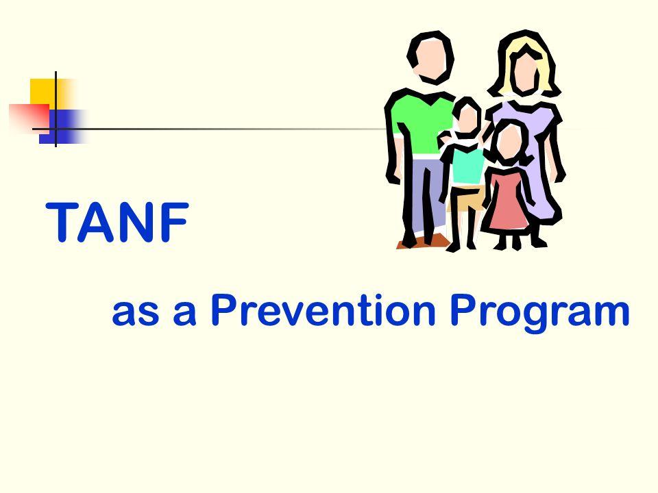 TANF as a Prevention Program