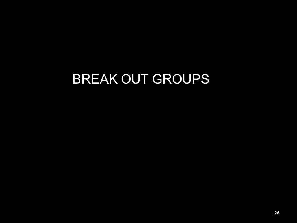 26 BREAK OUT GROUPS