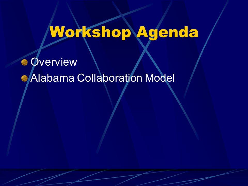 Workshop Agenda Overview Alabama Collaboration Model