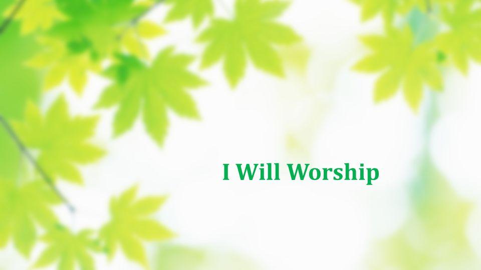 I Will Worship