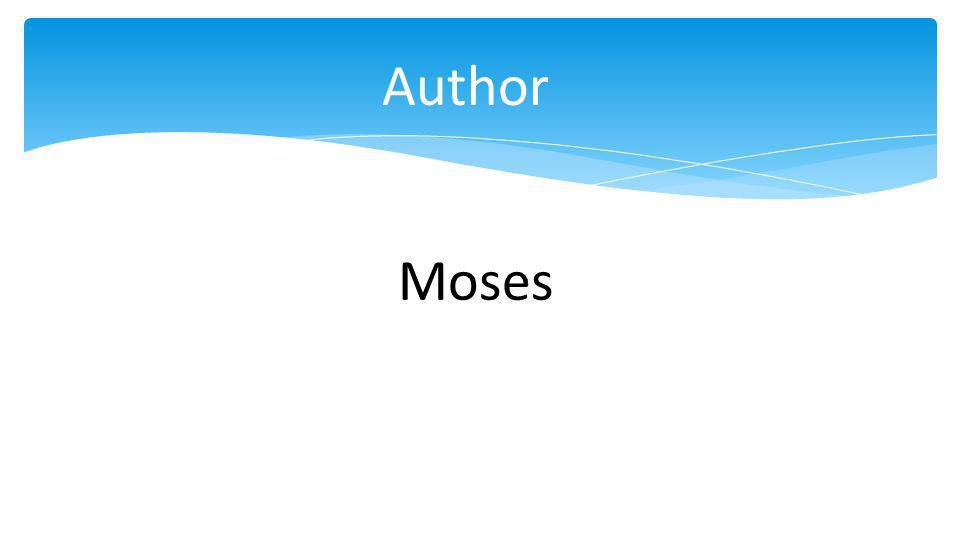 Author Moses