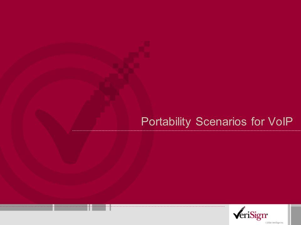 Portability Scenarios for VoIP