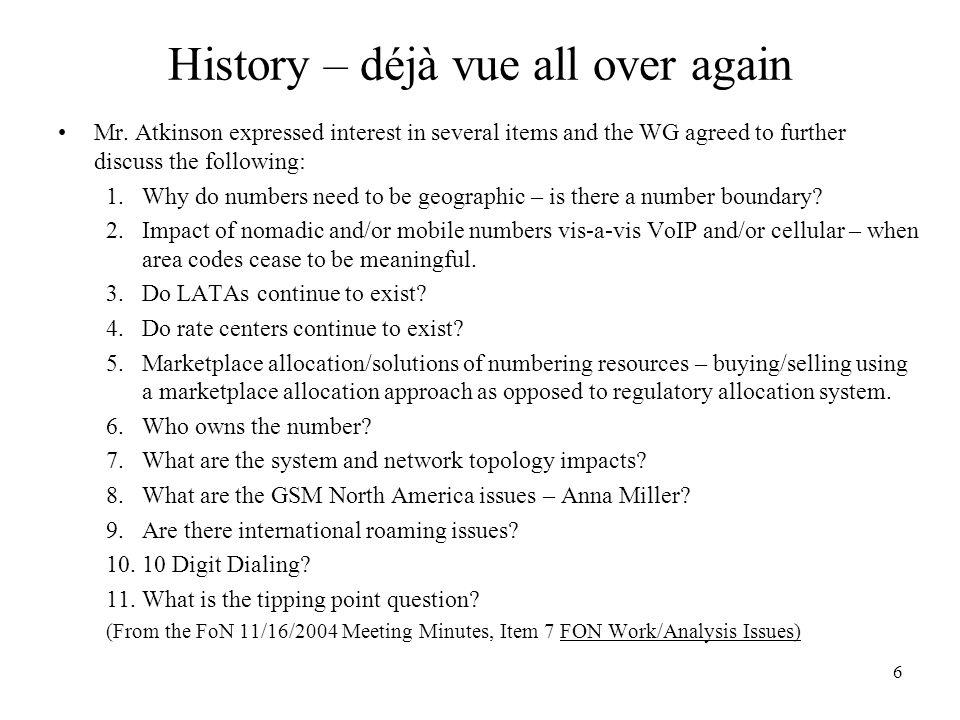 History – déjà vue all over again Mr.