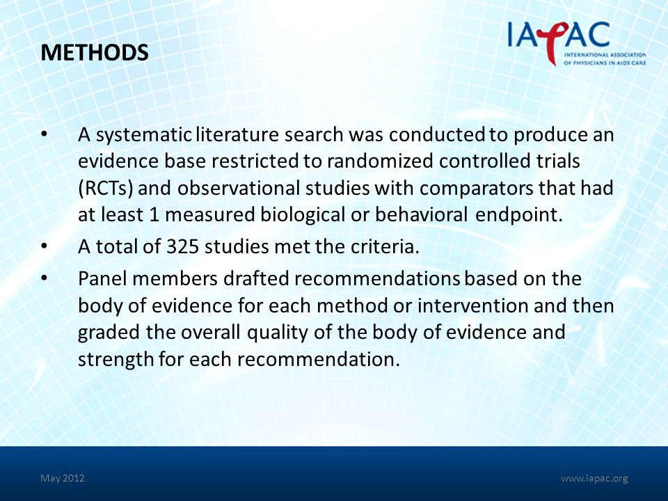 METHODS A systematic literature search was conducted to produce an evidence base restricted to randomized controlled trials (RCTs) and observational s