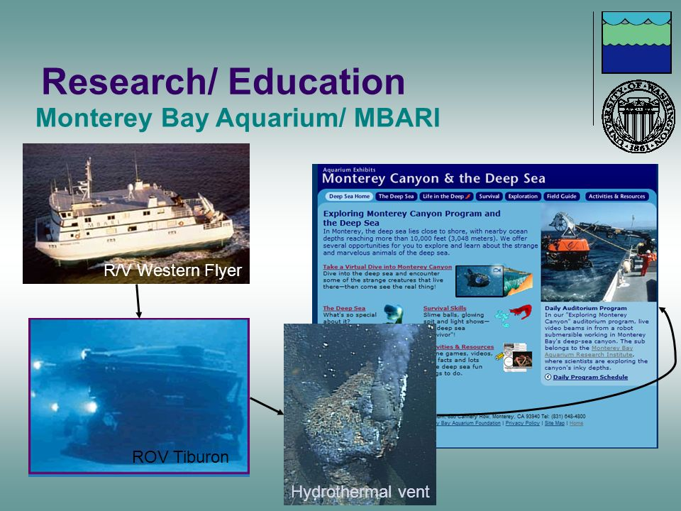 Research/ Education Hydrothermal vent ROV Tiburon R/V Western Flyer Monterey Bay Aquarium/ MBARI