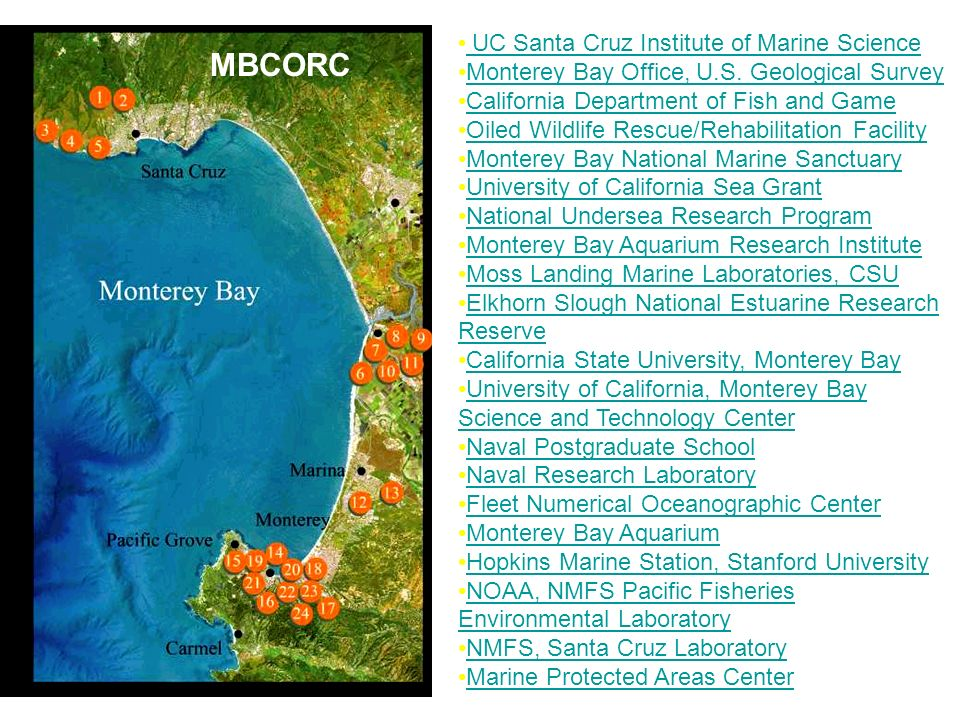 UC Santa Cruz Institute of Marine Science UC Santa Cruz Institute of Marine Science Monterey Bay Office, U.S. Geological Survey California Department
