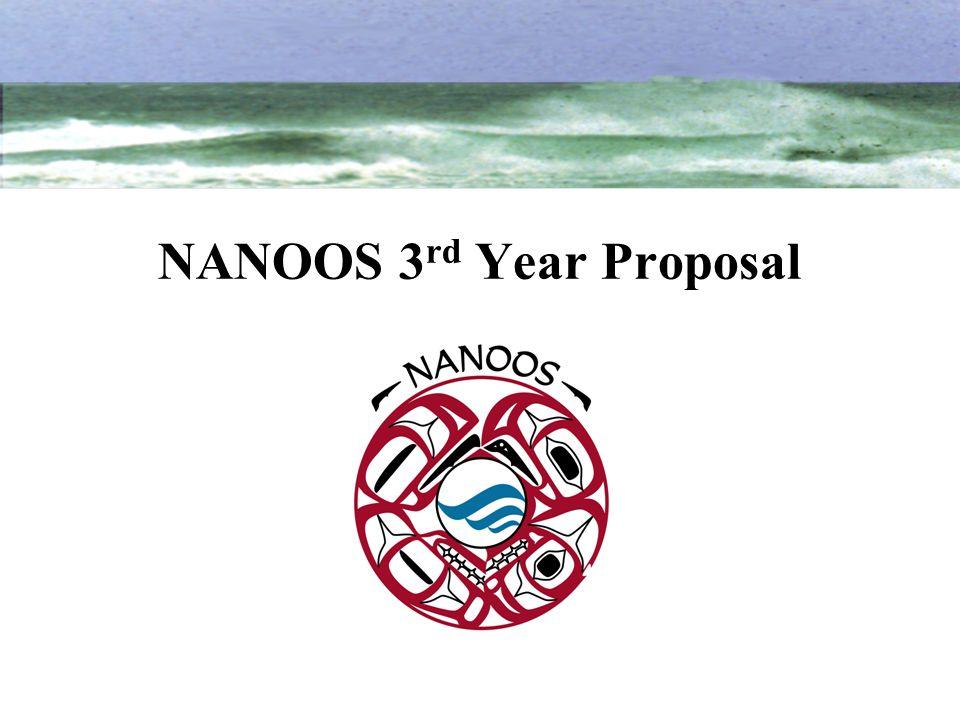 NANOOS 3 rd Year Proposal