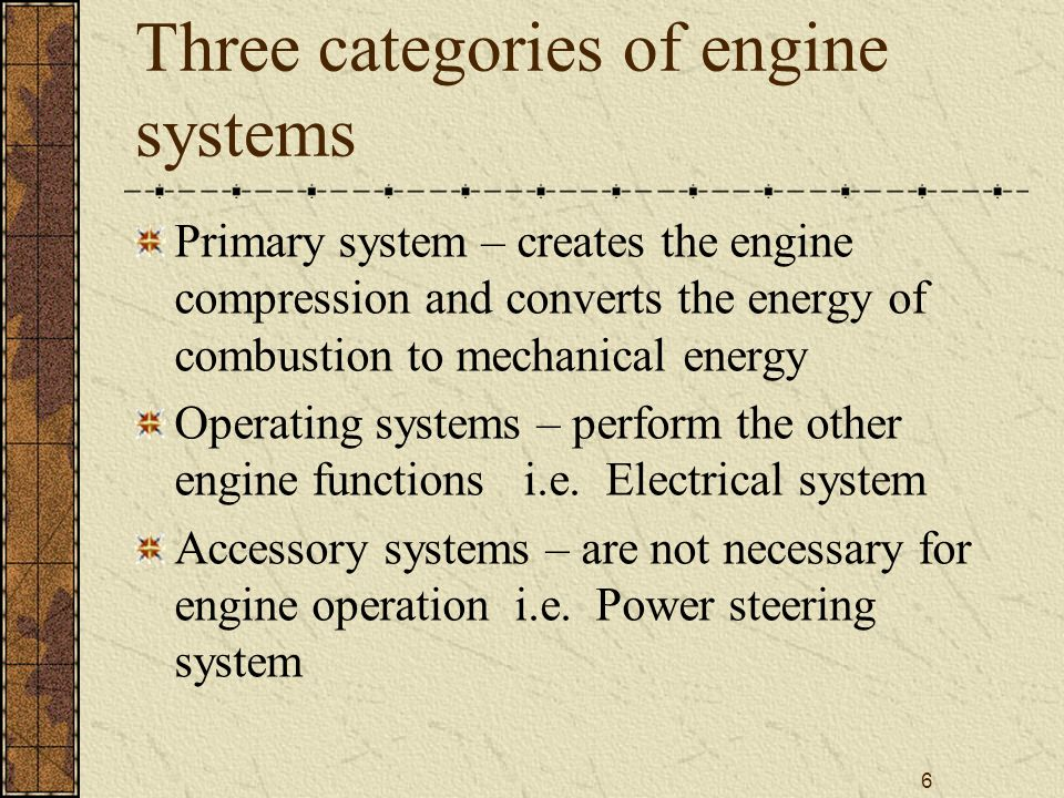 27 Ignition system Compression ignition system – does not consist of any unique parts Spark Ignition systems – uses high voltage electrical spark to ignite the compressed air and fuel mixture