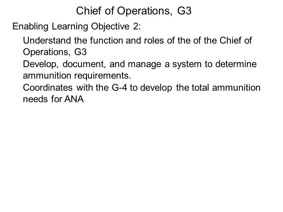 Ammo Distribution and Movement Ref. ANA Decree1-4.5