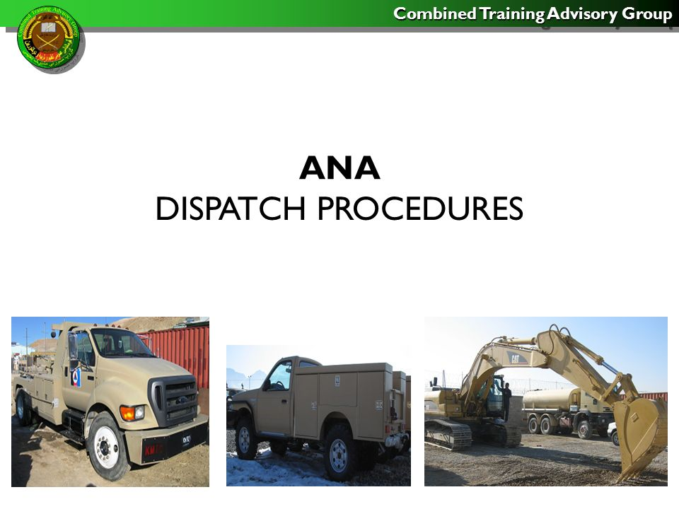 Combined Training Advisory Group ANA DISPATCH PROCEDURES