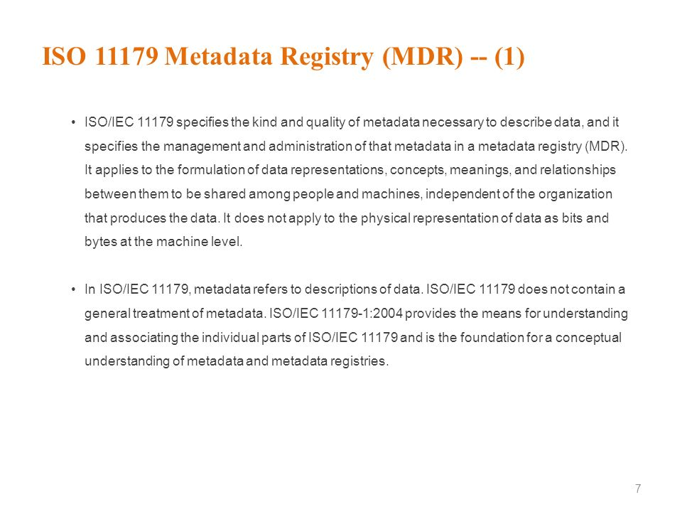 Communication Medium 6 Metadata With everyday cataloging work, we may have forgotten the important fact that the metadata is also the data. For this p