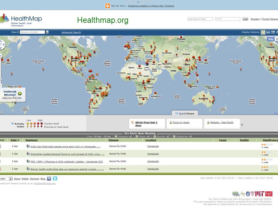 Center for Public Health Informatics University of Washington SFuller 2011 Healthmap.org