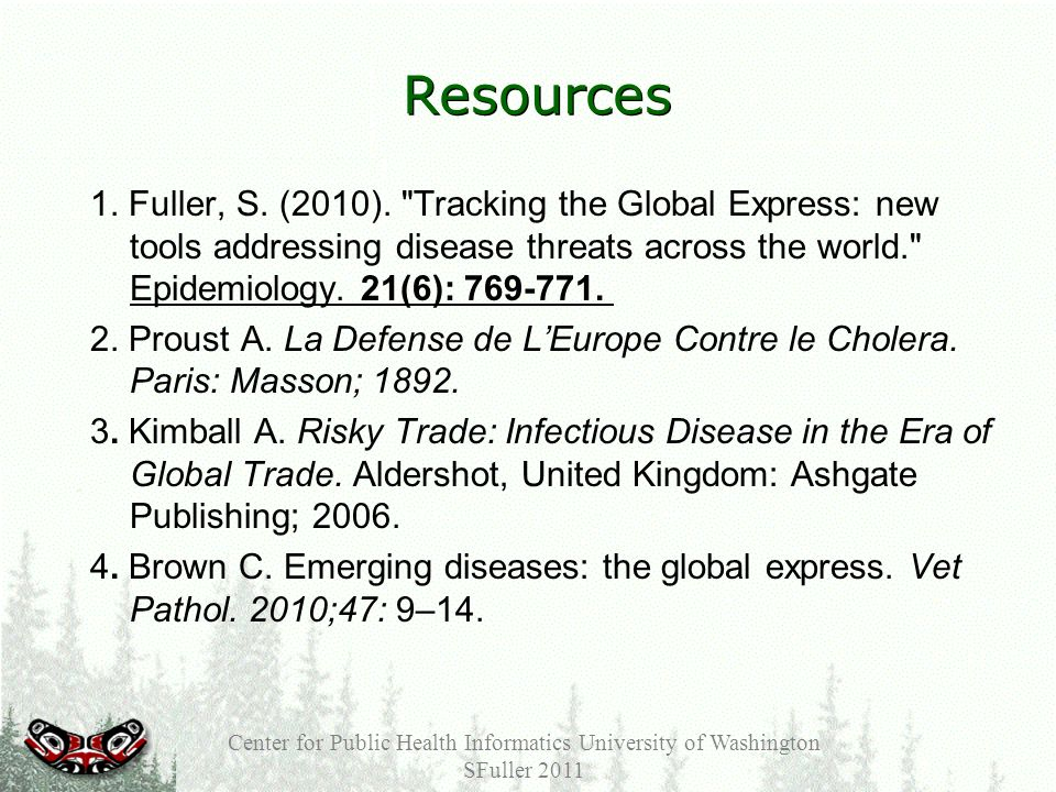 Resources 1. Fuller, S. (2010).