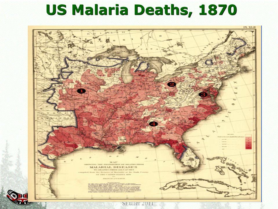 US Malaria Deaths, 1870 Center for Public Health Informatics University of Washington SFuller 2011
