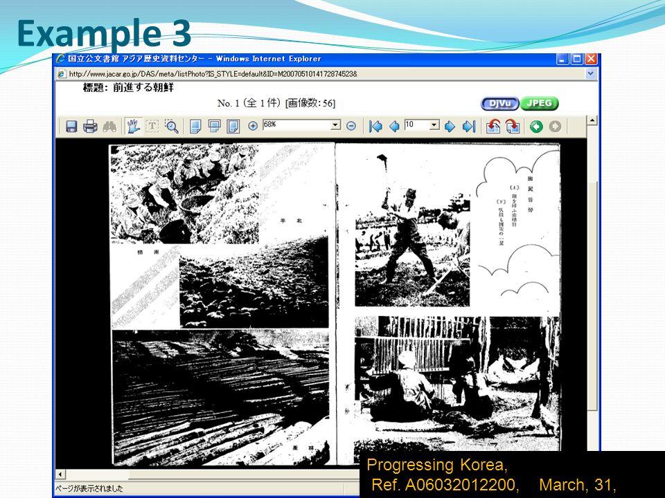Progressing Korea, Ref. A06032012200, March, 31, 1942 Example 3