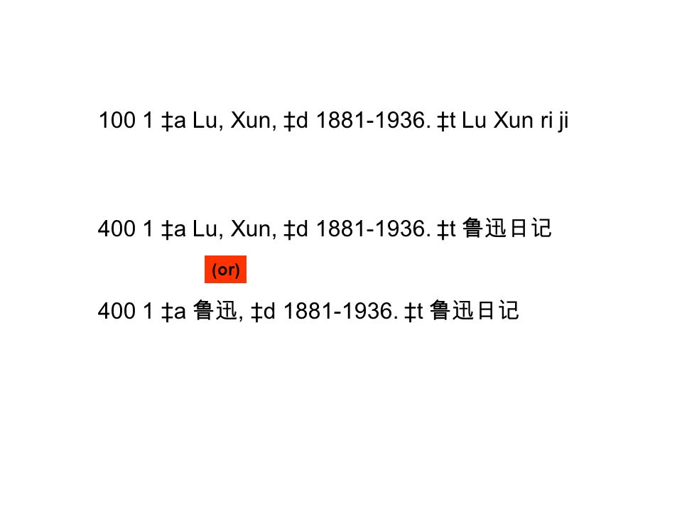 100 1 a Lu, Xun, d 1881-1936. t Lu Xun ri ji 400 1 a Lu, Xun, d 1881-1936.