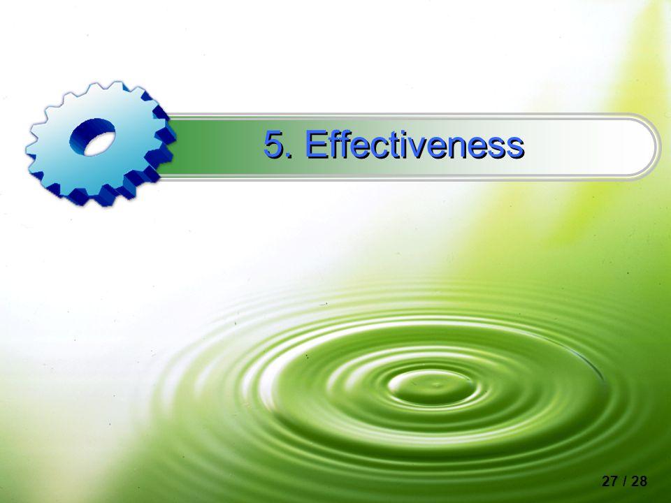 5. Effectiveness 27 / 28