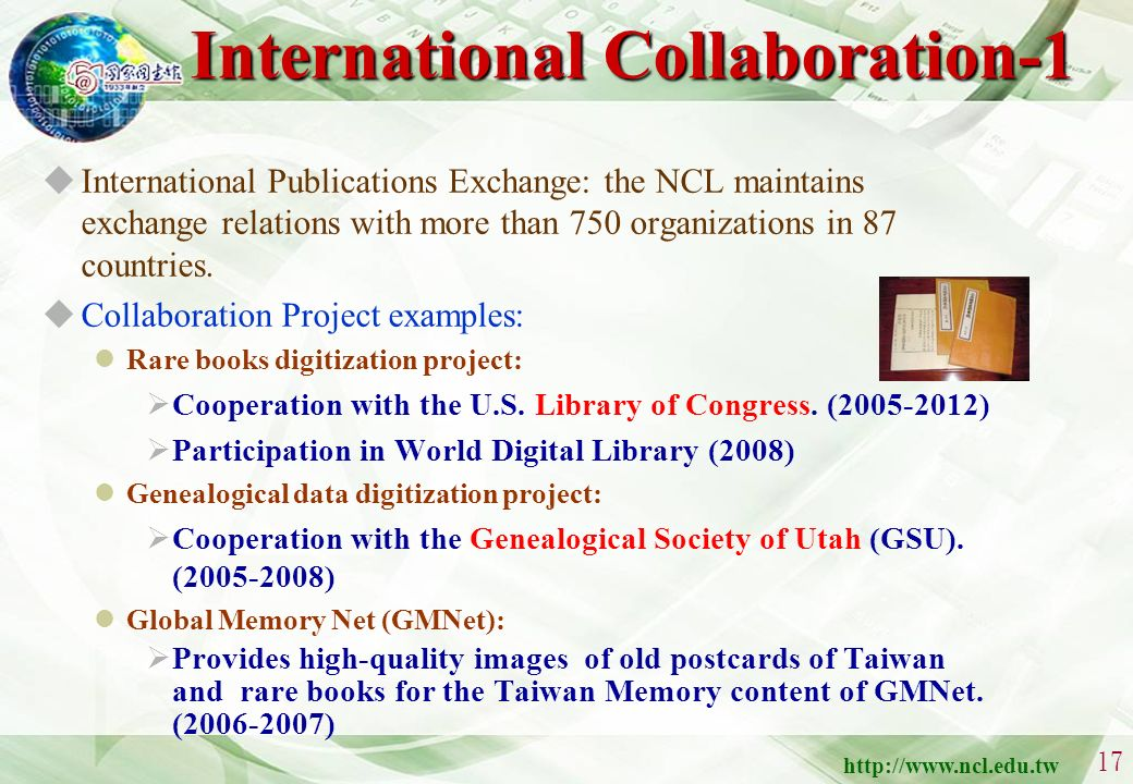 http://www.ncl.edu.tw 16 Digital Services -- Digital Services -- Bibliographic, index & abstract services Library integrated automation system (since