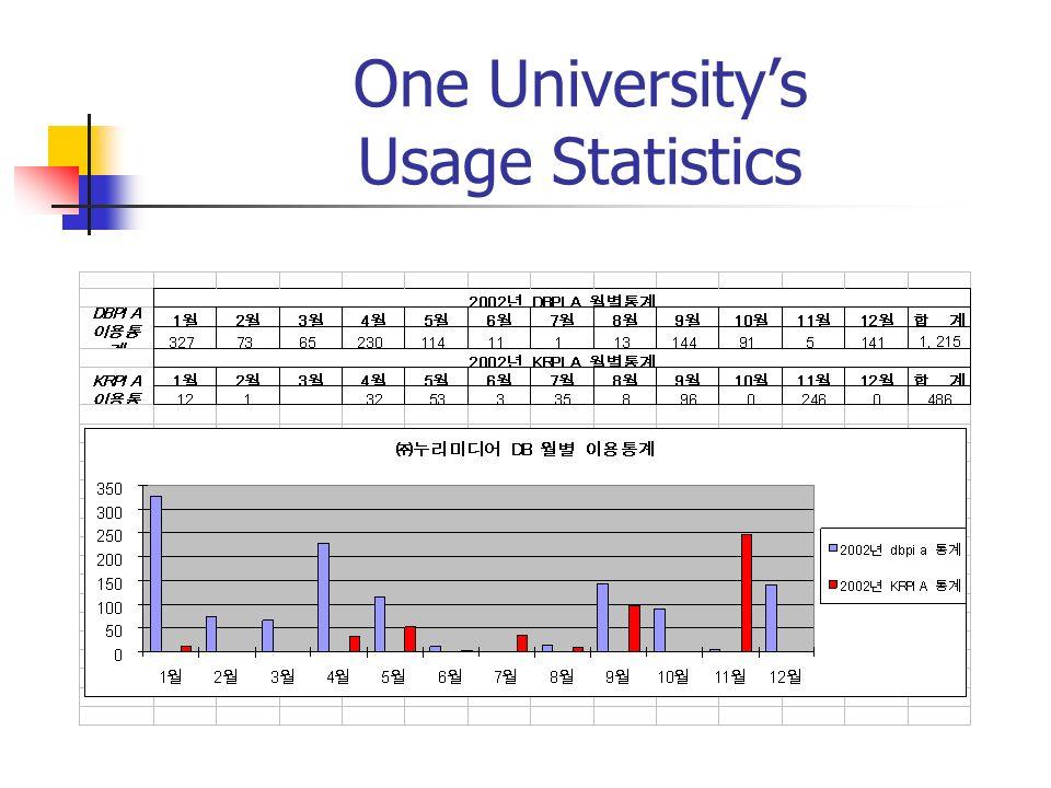 One Universitys Usage Statistics