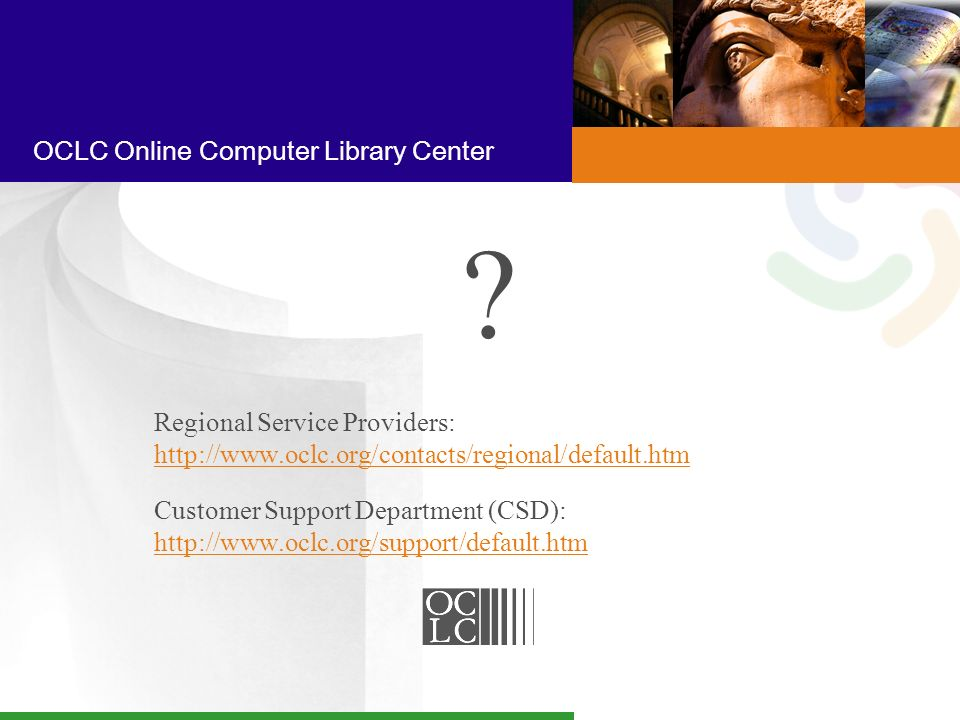 OCLC Online Computer Library Center .