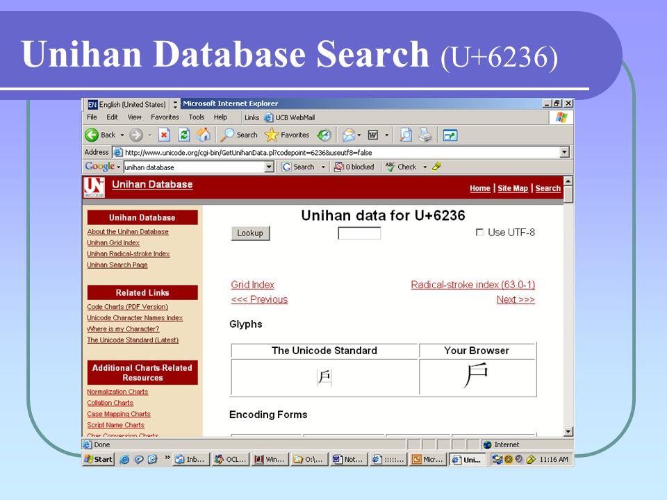 Unihan Database Search (U+6236)