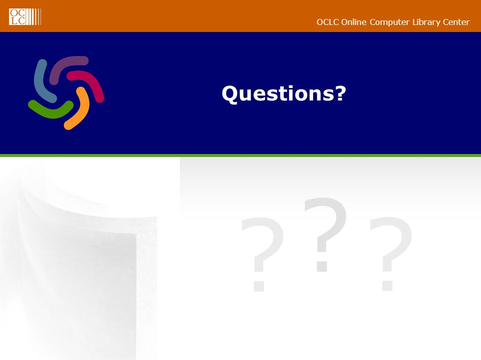 OCLC Online Computer Library Center Questions