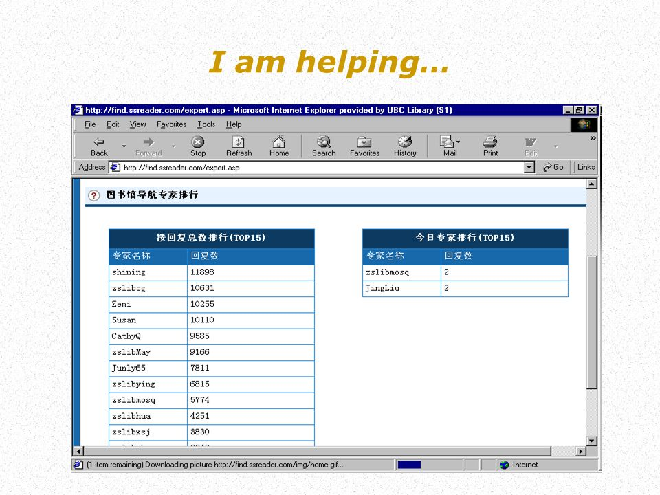 I am helping…