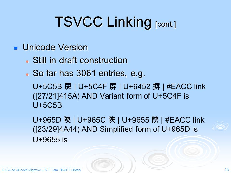 EACC to Unicode Migration – K.T.