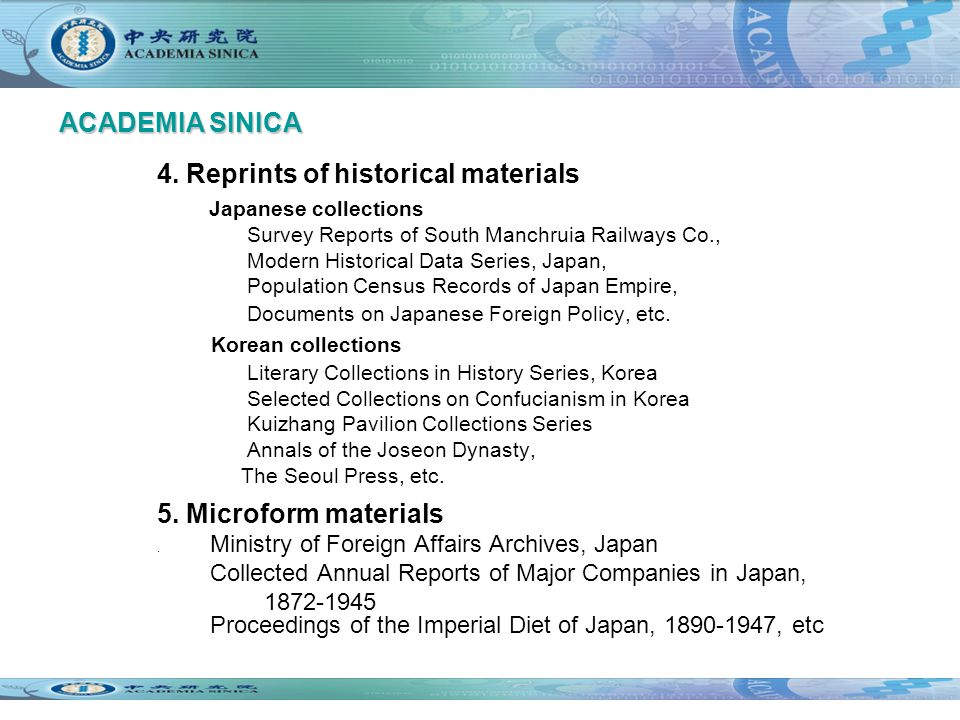 4. Reprints of historical materials Japanese collections Survey Reports of South Manchruia Railways Co., Modern Historical Data Series, Japan, Populat
