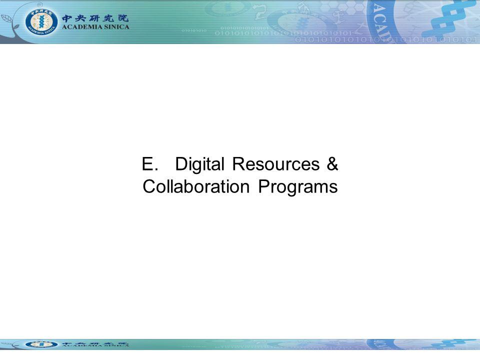 E. Digital Resources & Collaboration Programs