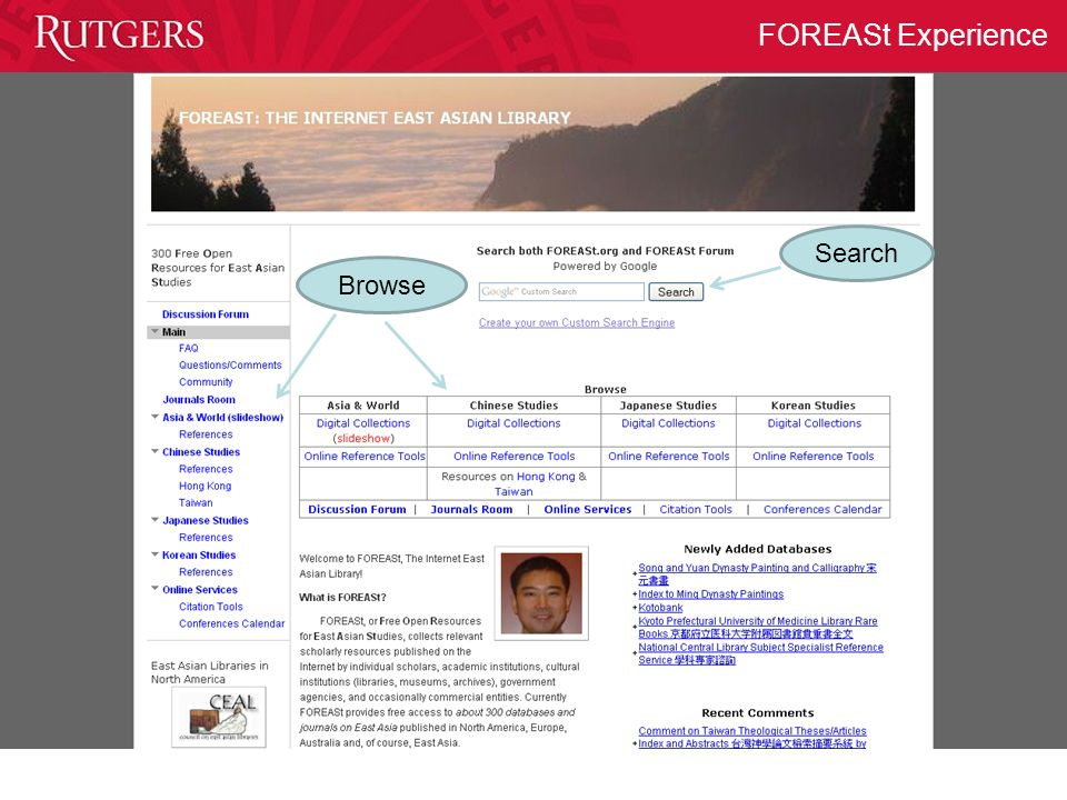 FOREASt Experience Search Browse