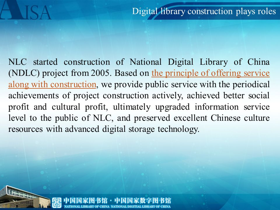 Strengthening construction of permanent preservation system, and realizing effectively inheriting of Asian culture.