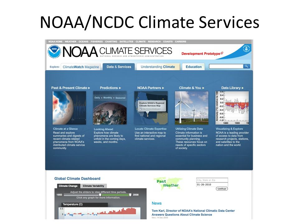 NOAA/NCDC Climate Services