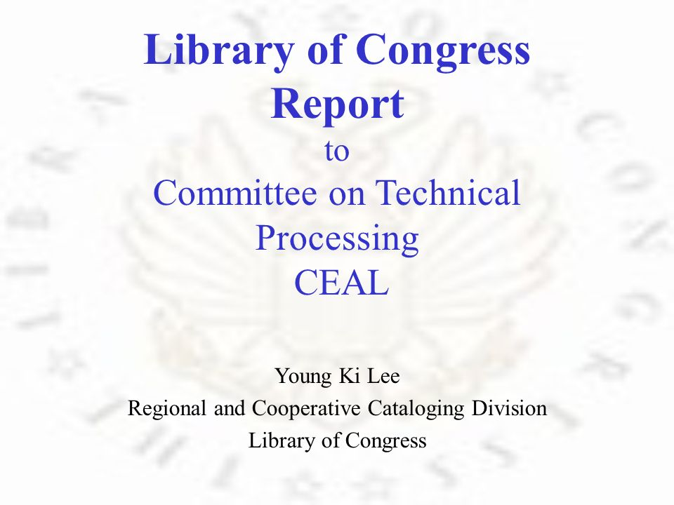 Regional and Cooperative Cataloging Division 2007 Statistics R eceived : 53,979 items C ompleted : 61,707 items C opy cataloging : 15,376 items M inimum level cataloging : 5,202 items C ollection level cataloging : 52 items