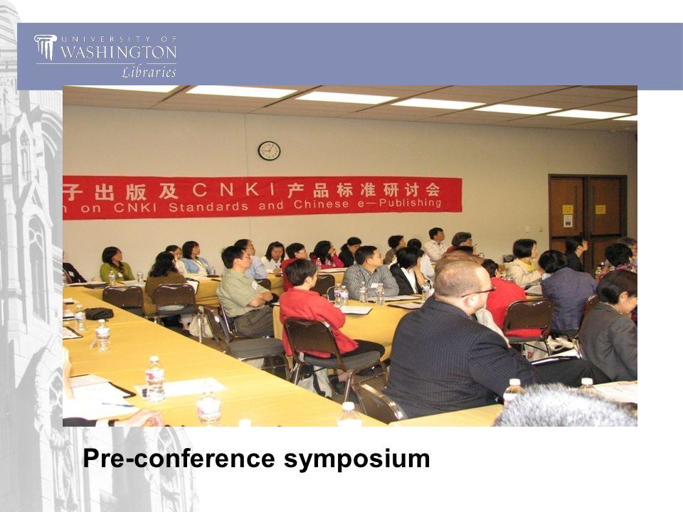 Pre-conference symposium