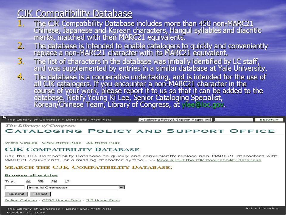 CJK Compatibility Database 1.