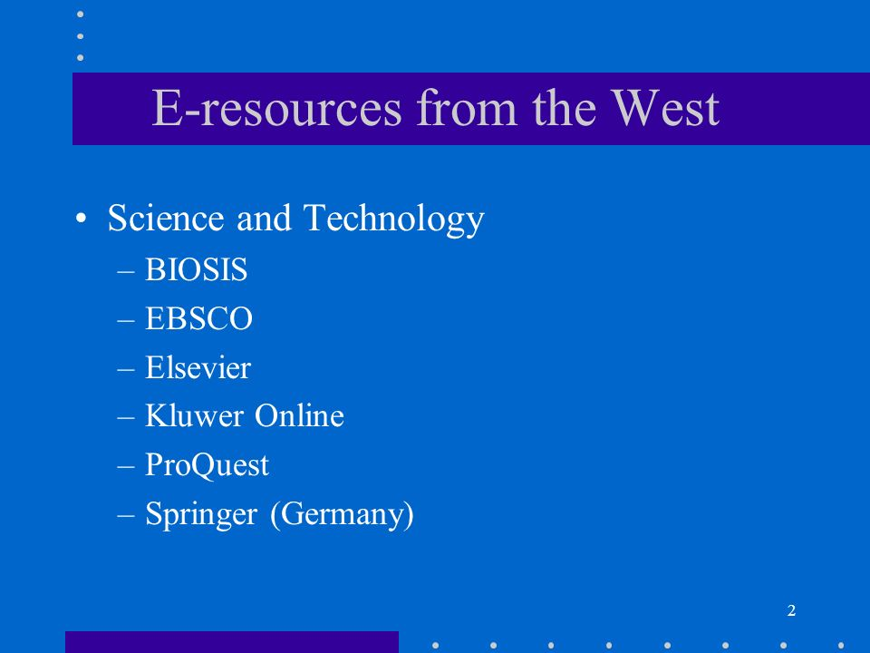 3 E-resources from China CNKI SuperStar Wanfang