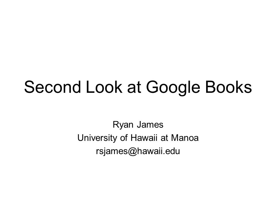 Final thoughts How significant are the errors found in Google Books.