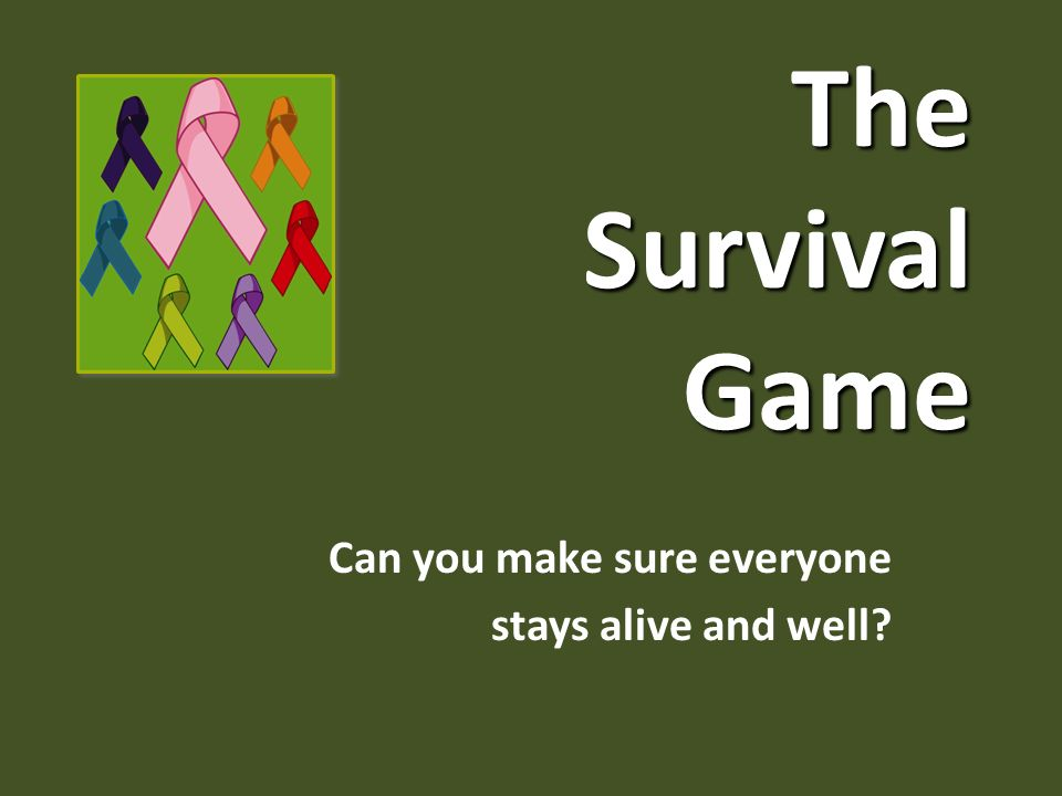 The Survival Game Can you make sure everyone stays alive and well