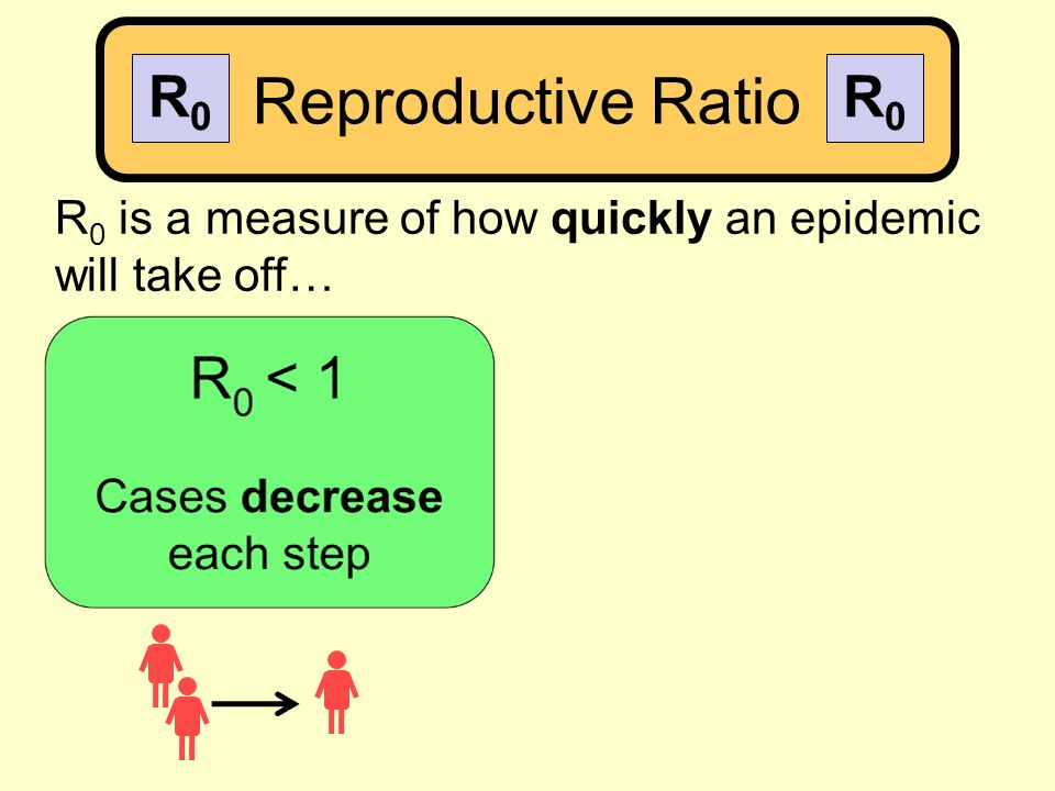 R 0 is a measure of how quickly an epidemic will take off… Reproductive Ratio R0R0 R0R0