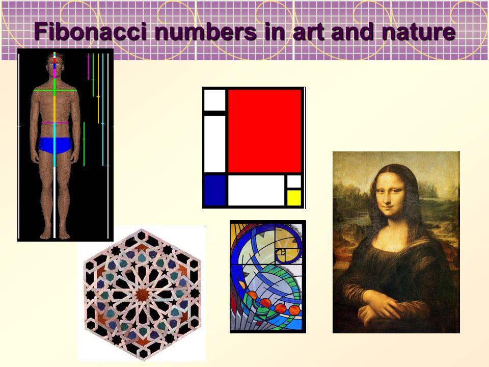 Fibonacci numbers in art and nature