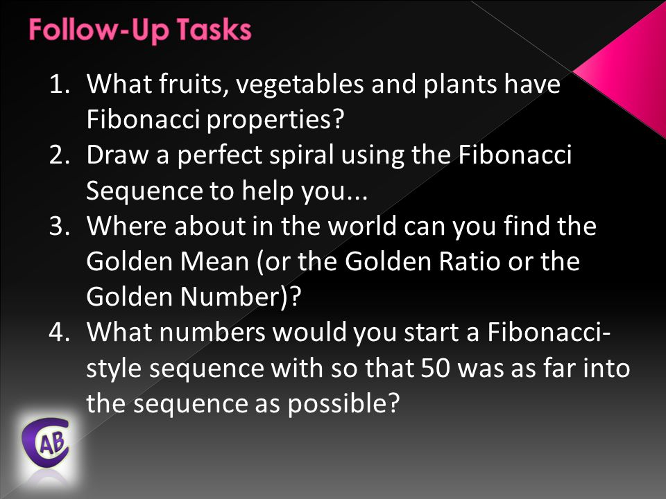 1.What fruits, vegetables and plants have Fibonacci properties.