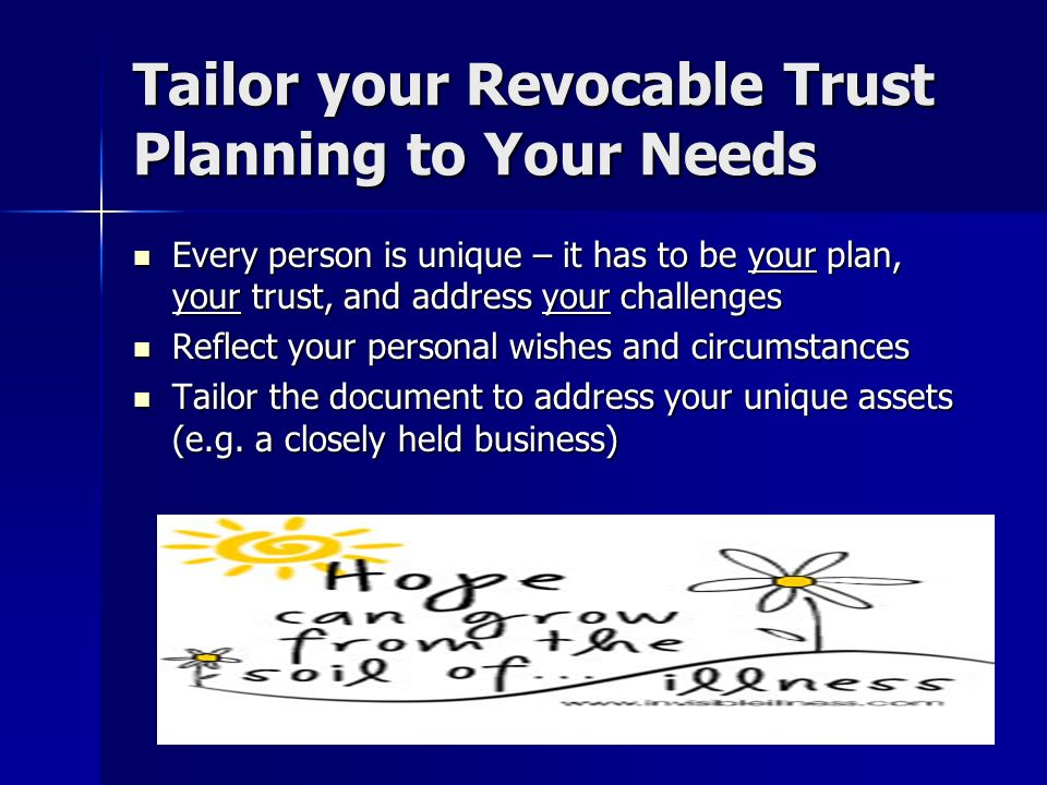 RV Tips – Planning Your Living Trust Hire a lawyer in the state you claim is where you reside and are domiciled – that is a tie to that state to support your position (but alone will never be enough, its just one factor) Hire a lawyer in the state you claim is where you reside and are domiciled – that is a tie to that state to support your position (but alone will never be enough, its just one factor) Rvers, or anyone who facing tax uncertainty as to which state they reside in (or in which they are domiciled), should consider the address designated in their trust and which state law is indicated to apply Rvers, or anyone who facing tax uncertainty as to which state they reside in (or in which they are domiciled), should consider the address designated in their trust and which state law is indicated to apply Where are the assets are that will be transferred to the trust Where are the assets are that will be transferred to the trust Where should you sign your trust – in the state you claim is your residence and domicile Where should you sign your trust – in the state you claim is your residence and domicile Can you use formalities for your trust that are more likely to be accepted in other states (e.g., 3 witnesses and a notary) Can you use formalities for your trust that are more likely to be accepted in other states (e.g., 3 witnesses and a notary)