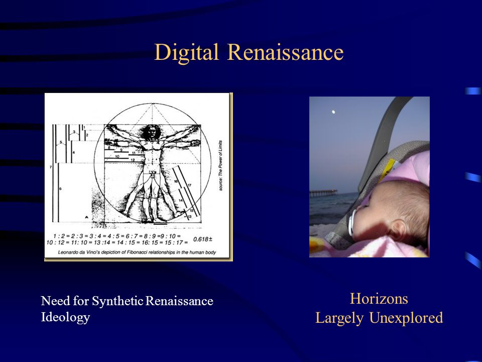 Digital Renaissance Need for Synthetic Renaissance Ideology Horizons Largely Unexplored
