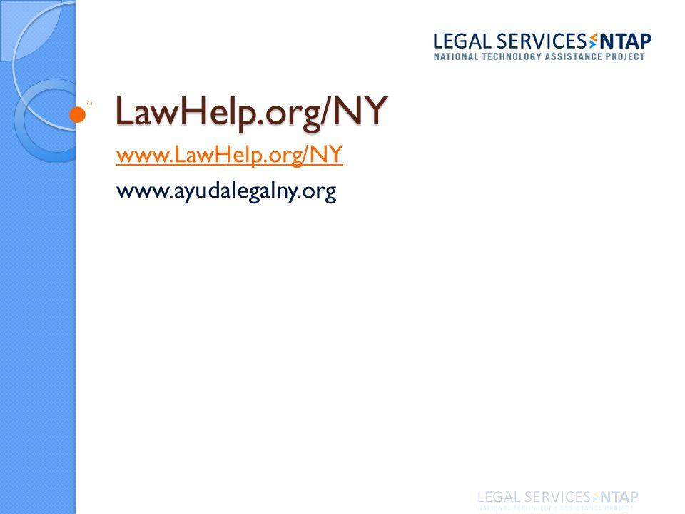 LawHelp.org/NY www.LawHelp.org/NY www.ayudalegalny.org
