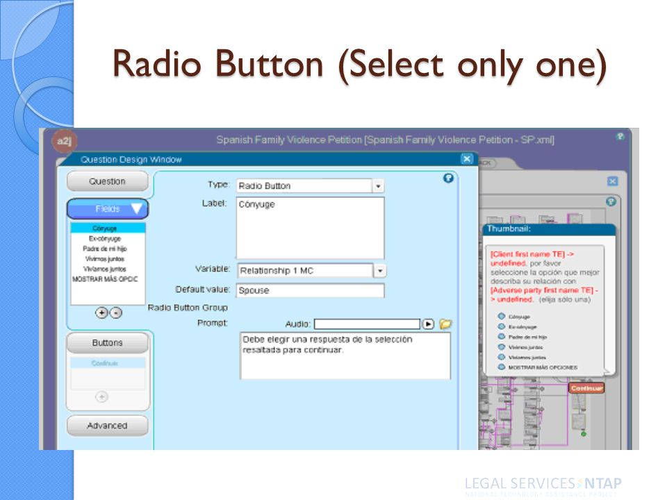 Radio Button (Select only one)