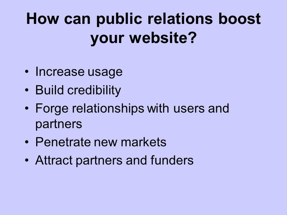 How can public relations boost your website.