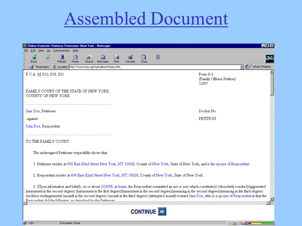 Copyright Zorza Associates, 2004 (Certain screens may be copyright the author/organization)   Assembled Document